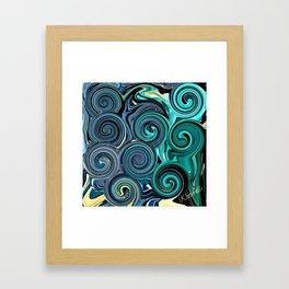 BLUE LOVE Framed Art Print