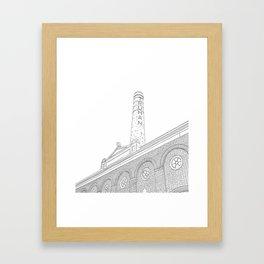 London Truman Chimney - Line Art Framed Art Print
