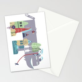 walking beast Stationery Cards
