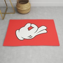 Ok Cartoon Emoji Hands Rug