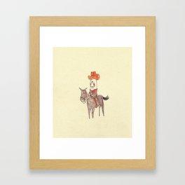 Manatee Cowboy Framed Art Print
