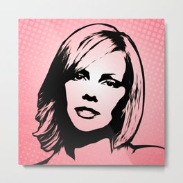 Charlize Theron - Pop Art Metal Print