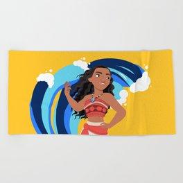 Moana and the Ocean's Waves Beach Towel