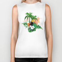 toucan Biker Tanks featuring Toucan by nicky2342