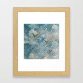 """""""Heaven & butterflies"""" Framed Art Print"""