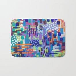 Crazy Rainbow Bright Abstract Art Bath Mat