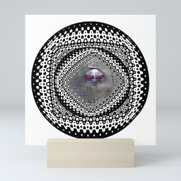 """Beez Lee Art : Foggy Circle Point of View"" Mini Art Print"