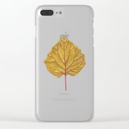 Goldenberry leaf Clear iPhone Case