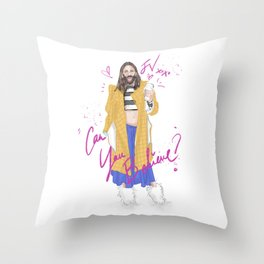 Can You Believe Throw Pillow