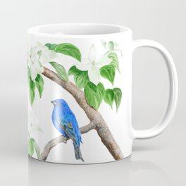 Royal Blue-Indigo Bunting in the Dogwoods by Teresa Thompson Coffee Mug