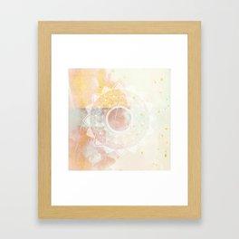 Precious white mandala on pink Framed Art Print