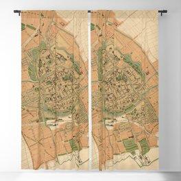 Vintage Groningen Netherlands Map (1903) Blackout Curtain