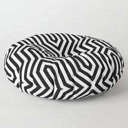 Retro Chevron B&W Floor Pillow