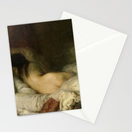 Jean-François Millet - Femme nue couchee Stationery Cards