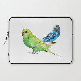 Geometric green and blue parakeets Laptop Sleeve