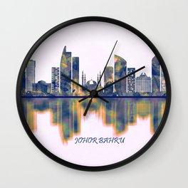Johor Bahru Skyline Wall Clock