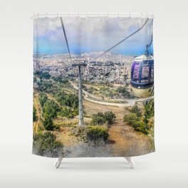 Trapani art 7 Shower Curtain