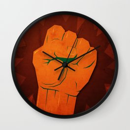 Jeremiah 21:5 Wall Clock
