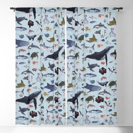 SEA CREATURES poster with names Blackout Curtain
