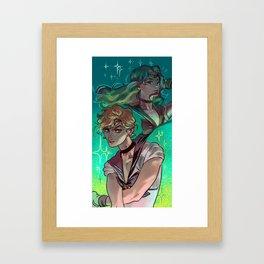 SAILOR MOON - URANUS AND NEPTUNE Framed Art Print
