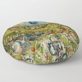 "Hieronymus Bosch ""The Garden of Earthly Delights"" Floor Pillow"
