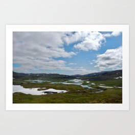 Norway - Clouds and Lakes Art Print