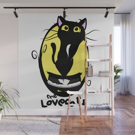 The Lovecats - Illustration The Cure song Wall Mural