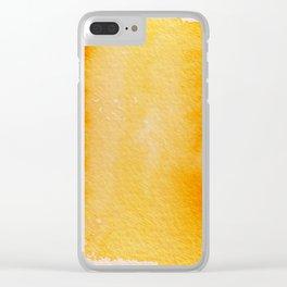 Horizontal Sunrise Haze Clear iPhone Case
