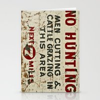 hunting Stationery Cards featuring No Hunting! by Bruce Stanfield