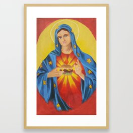 Our Lady of the 6 Dollar Burger Framed Art Print