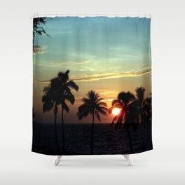 Sunset at Mauna Kea Beach, Hawaii Sky Shower Curtain