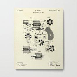 Revolving Fire Arm-1881 Metal Print