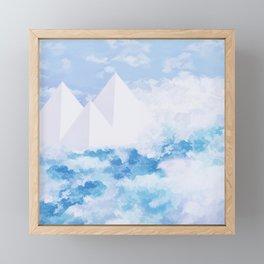 Marble Pyramids Beyond North Framed Mini Art Print