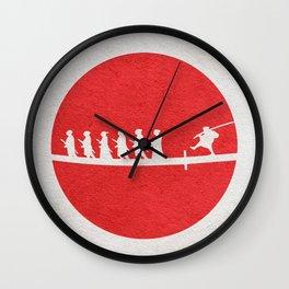Seven Samurai Wall Clock