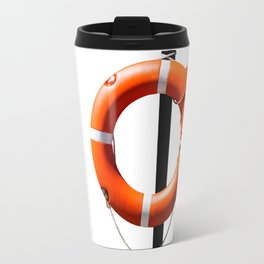 Orange live saving ring Travel Mug
