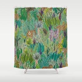 Jungle Tigers by Veronique de Jong Shower Curtain