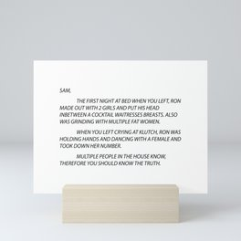 Letter to Sammi Sweetheart Mini Art Print