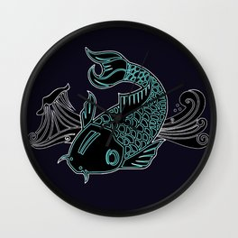 Little Lucky Koi Wall Clock