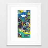 greece Framed Art Prints featuring Greece by Marijke Buurlage