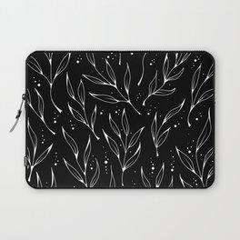Plant doodles black Laptop Sleeve