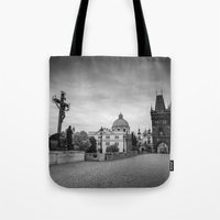 prague Tote Bags featuring Prague by Johannes Valkama