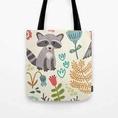 Forest Animal Print Tote Bag