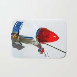 Red taillight of a white luxury car Bath Mat