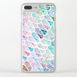 DAZZLING MERMAID SCALES Clear iPhone Case