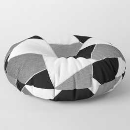 Gray Black White Geometric Glam #1 #geo #decor #art #society6 Floor Pillow
