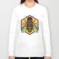 bee Long Sleeve T-shirts featuring Bee by Graham Diehl