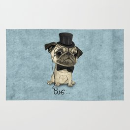 Pug; Gentle Pug (v3) Rug