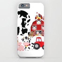Farm Barnyard Theme Pig Cow Horse 2nd Birthday 2 Yrs Old T-Shirt iPhone Case