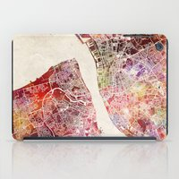 liverpool iPad Cases featuring Liverpool by MapMapMaps.Watercolors