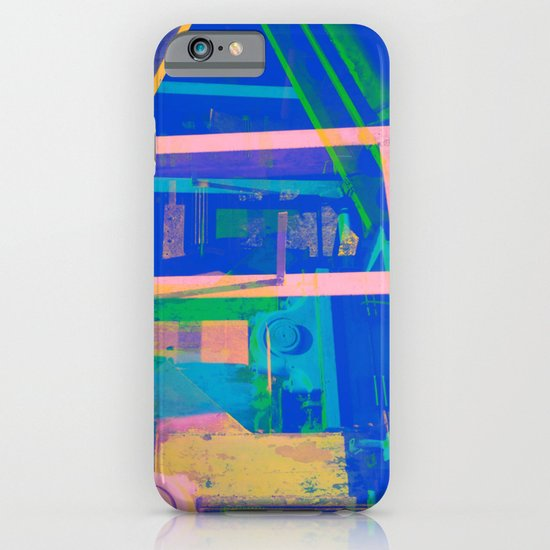 Industrial Abstract Blue 2 iPhone & iPod Case